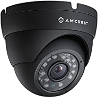 Amcrest AMC960HDC36-B 800+ TVL Dome Weatherproof IP66 Camera with 65 IR LED Night Vision (Black),Power supply and coaxial video cable are not included