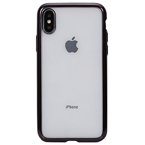 Price comparison product image iphone X Case,IKASEFU Crystal Clear Soft TPU 360 Degree Ultra-Thin [Slim Fit] Transparent Flexible Premium Case + Tempered Screen Protector Film Cover for iphone X,Black
