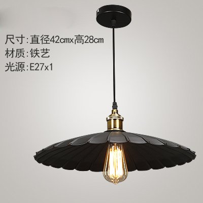 Luckyfree Retro Industrial olla de hierro de luz colgantes ...