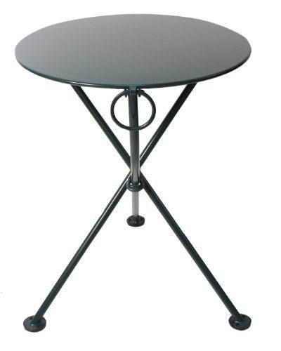 - Mobel Designhaus French Café Bistro 3-leg Folding Bistro Table, BlackGreen Frame, 24