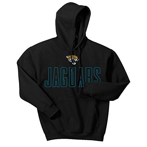 NFL Jacksonville Jaguars Men's Zubaz Open Letter logo hoodie, Large, Black