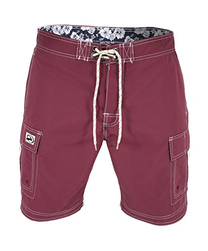 US Apparel Men's Solid Color Cargo Style Microfiber Board Shorts (Small, - Bathing Suits Mens European Style