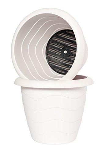 Pflanzkübel LUGANO 33cm mit Wasserspeicher-System; Farbe weiß ...
