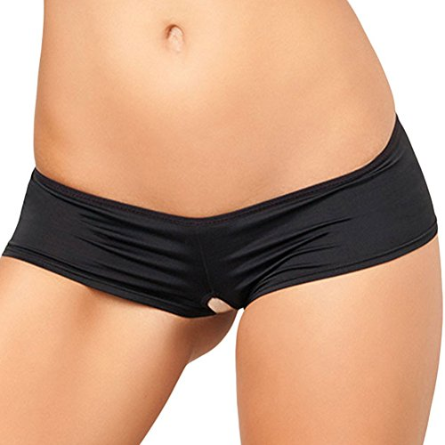 [Lifeisbest Women's Sexy Crotchless Cheeky Boyshorts with Lace up Back] (Sexiest Couple Halloween Costumes)