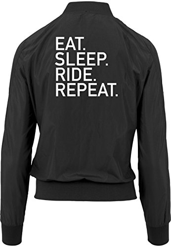 Ride Certified Eat Bomber Chaqueta Sleep Girls Negro Repeat Freak Sqwpqx