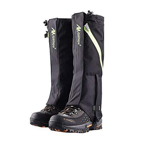 AYAMAYA Hiking Gaiters Waterproof Boot Snow Gaitors, Hiking Equipment Breathable High Boots Shoes Cover Leg Protection Guard, Anti Dust/Mud/Debris/Rock/Bush Gaiters for Hunting (Black, ()