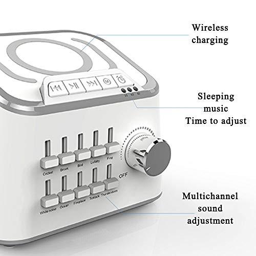 Sleep Machine Hylotele BT 3.0 Hifi USB Cable Sound Speaker 3 Kinds Time Setting Baby Comfort Machine Sleep Quality Enhancer 10 Natural Sounds Optional ()