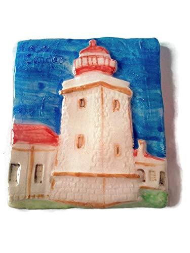 Pottery Lighthouse - Ceramic Lighthouse Tile, Portuguese Pottery