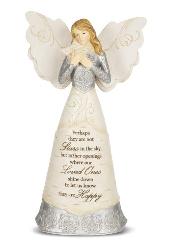 Angel Holding Star Figurine - Pavilion Gift Company 82338 Elements Stars in The Sky Angel Figurine, 9-Inch