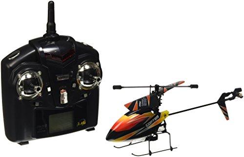 s-idee® 01140   V911 4.5 Kanal 2,4 Ghz Heli Hubschrauber RC ferngesteuerter Hubschrauber/Helikopter/Heli mit LCD Display und GYROSCOPE-TECHNIK + 2,4Ghz TECHNOLOGIE!!! für INNEN und AUSSEN brandneu mit eingebautem GYRO und 2.4 GHz Steuerung! FLUGFERTIG!