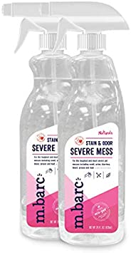M.BARC Naturals Pet Stain & Odor Severe Mess 28oz. (2-Pack) - Eliminates The Worst Dog & Cat Odors and