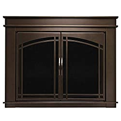 Pleasant Hearth FN-5700 Fenwick Fireplace Glass Door, Oil Rubbed Bronze, (Certified Refurbished) from GHP Group -- Drop Ship Only