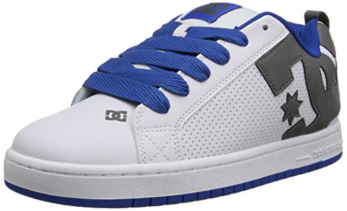 Dc Heren Hof Graffik Skate Schoen Wit / Blauw / Grijs
