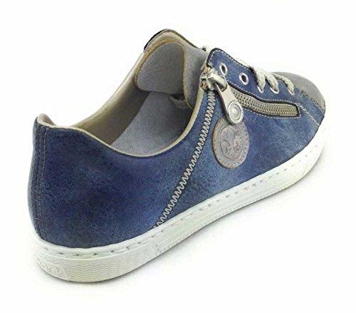 L0943 Rieker grey Mujer jeans para Zapatillas zwHwZ7xCq
