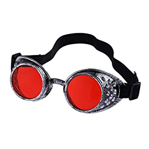 Womail Women Windproof Glasses Outdoor Cosplay Goggles For Men (Red)