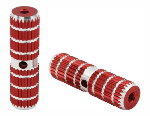 Alloy Pegs 661 24/26t W=1.10'' l=4 1/2'' Red. Pegs for bike, bicycles, bmx, lowrider, mountain bike, beach cruiser