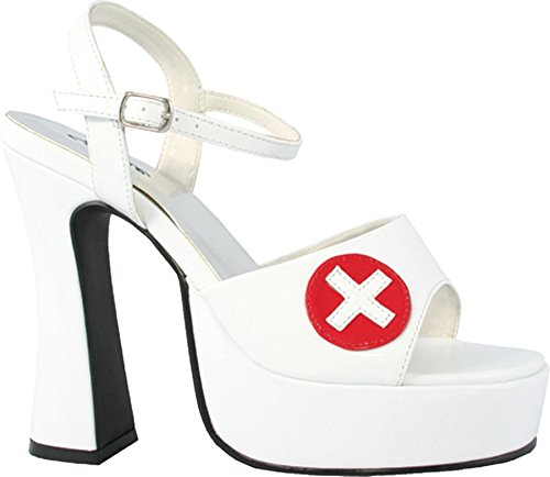 Betty-557 Adult Costume Shoes White - Size (Nurse Costume Shoes)
