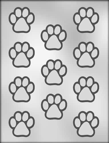 CK Products 1-1/2-Inch Paw Print Chocolate Mold