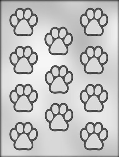Tiger Paw Prints - CK Products 1-1/2-Inch Paw Print Chocolate
