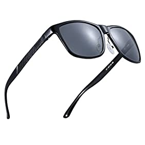 ATTCL Men's Hot Retro Metal Frame Driving Polarized Wayfarer Sunglasses For Men