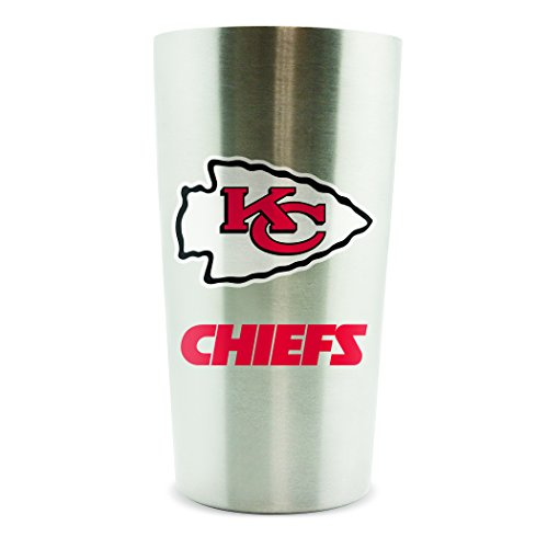 NFL Kansas City Chiefs Double Wall Stainless Steel Thermal Cup, White, 1 Piece