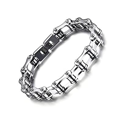 Motorcycle Chain Titanium Stainless Steel Bracelet- Luismia Wholesale Fashion Jewelry Bracelet for Men