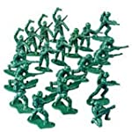 Pack of 24 - Mini Plastic Army Soldie...
