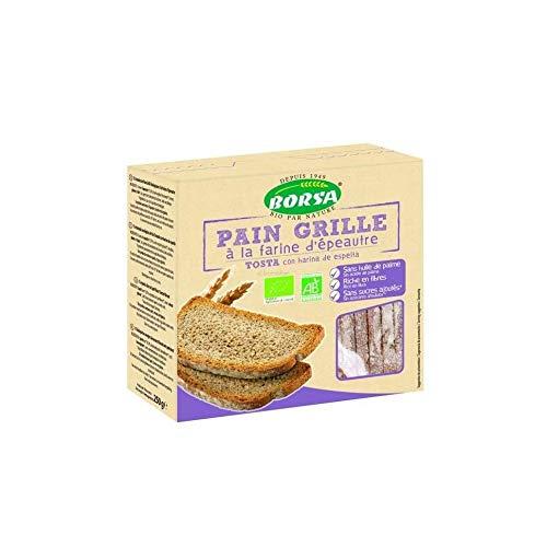 Tostadas bio con harina de espelta Borsa 250 g: Amazon.es ...