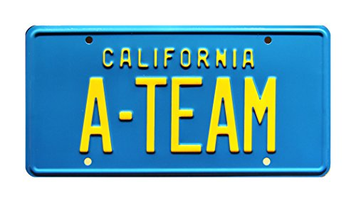 Celebrity Machines The A-Team | A-Team | Metal Stamped License Plate