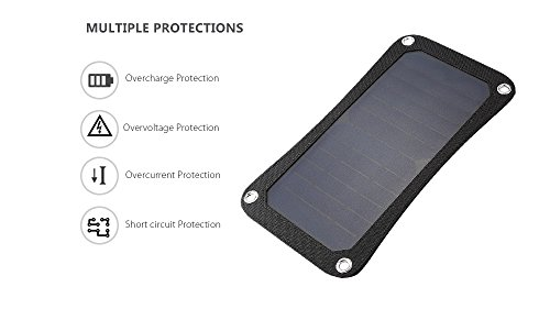 USB Solar Charger, Waterproof Foldable PowerPort Solar Solar Panel Power Emergency Bag Outdoor for iPhone iPad Cell Phone,Backpack (7W) by Smart for Life (Image #3)