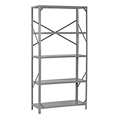 Edsal 7216H Steel Commercial Shelving Unit, 36  Width x 72  Height x 16  Depth
