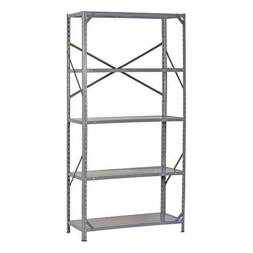 Edsal 7216H Steel Commercial Shelving Unit, 36' Width x 72' Height x 16' Depth
