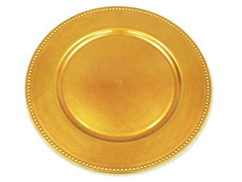 Top gold chargers plates set of 24 for 2019