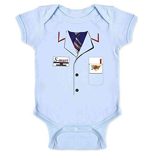 Ash Shop S-Mart Halloween Costume Horror Zombie Light Blue 6M Infant Bodysuit]()