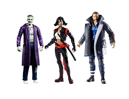DC Comics Multiverse Suicide Squad 6 Action Figures, 3-Pack Collection- Katana, Boomerang and Joker