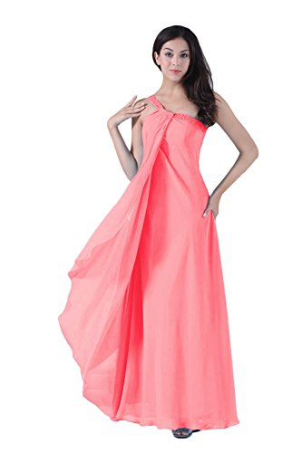 Bridal_Mall - Vestido - Sin mangas - para mujer Sandía