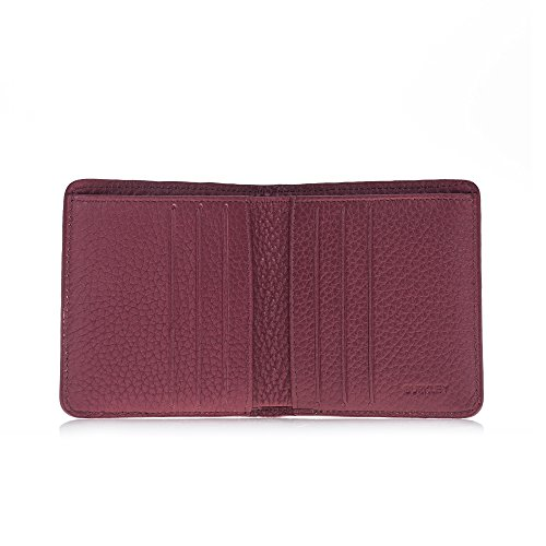 Fold Case Aaron Wallet Square Bordeaux Turkish Leather Hand Premium Bi Leather in Luxurious Burkley wrapped 5XdUxwqAw