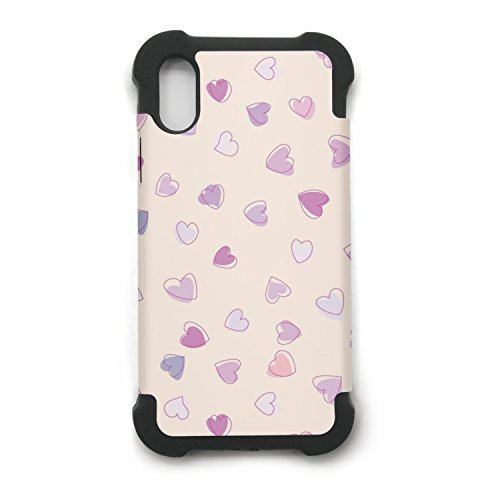 - Cute Heart Pattern Printing IPhone X Case Plate And Soft TPU/Shock Proof/Anti-Finger Double Protection Phone Back Case Cover For IPhone X