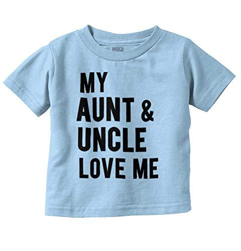 Aunt Uncle Toddler T-shirt - Aunt Uncle Love Me Family Nephew Niece Infant Toddler T Shirt