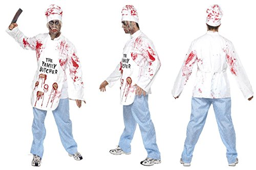 Killer Chef Costumes (Deadly Chef Costume Man Fancy Dress)
