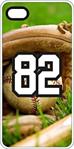 Baseball Sports Fan Player Number 82 White Plastic Decorative iphone 6 plus Case
