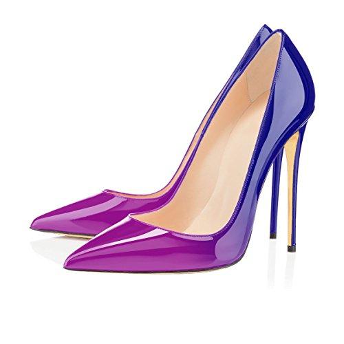 Taille Femme Escarpins Grande Talon Violet Chaussures Femmes Stilettos Talons uBeauty bleu Aiguille Chaussures xgw4SHqqn
