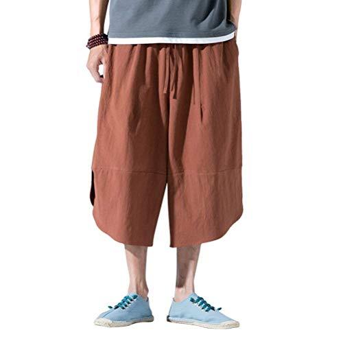 Aladdin Con Larghi Casual Fashion Hx Super Harem Pantaloni Elastic Sarouel Bloomers Uomo Kaffee Donna Estivi Da 0TBgq
