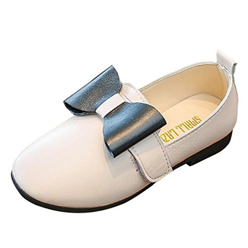 JIANGFU Kinder Baby Mädchen Mode Prinzessin Bowknot Dance Nubukleder Casual Single Schuhe, Prinzessin Bow Schuhe Mädchen Schuhe Schuhe Freizeitschuhe Weiß