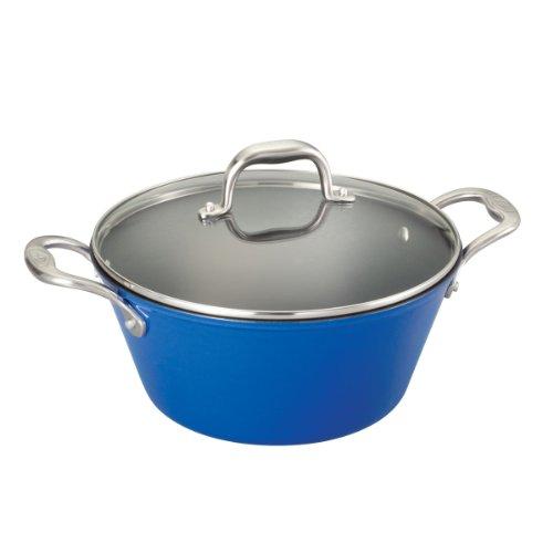 Guy Fieri Light Weight Cast Iron 5.5-Quart Dutch Oven, Blue