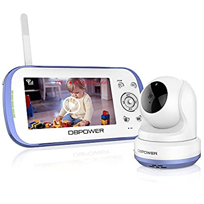 "DBPOWER Long Range Video Baby Monitor with Camera and Audio, 4.3"" LCD Screen, 270° Pan-Tilt-Zoom, Two Way Talk, Expandable Cam, VOX, Lullabies, Temperature Monitoring, Night Vision"