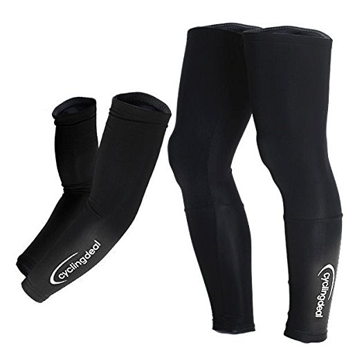 Bicycle Arm Warmers (Cycling Bicycle Bike Arm & Leg Warmers Size L)