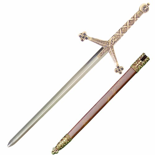 Letter A Costumes (Denix Medieval Claymore Sword Letter Opener with Scabbard)