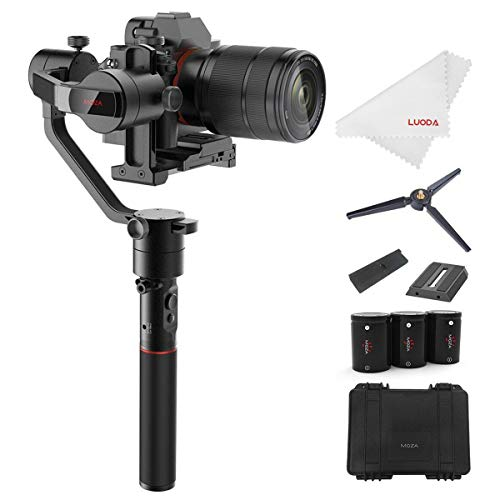 MOZA AirCross 3-Axis Gimbal Stabilizer for Mirrorless Camera up to 3.9 Lb, Auto-Tuning, Time-lapse Shooting, 12Hrs Run-time i.e. Sony A7SII, Pana GH3/4/5 (2 Axis Camera)