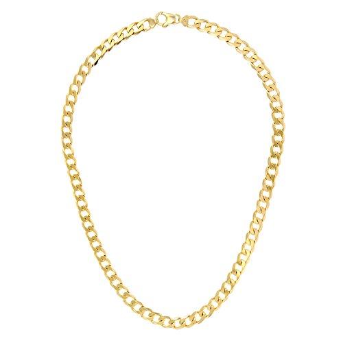 Revoni Bague en or jaune 9carats-60g-Collier Femme-Maille Gourmette, 66cm/Longueur 66cm, 8.3mm Largeur